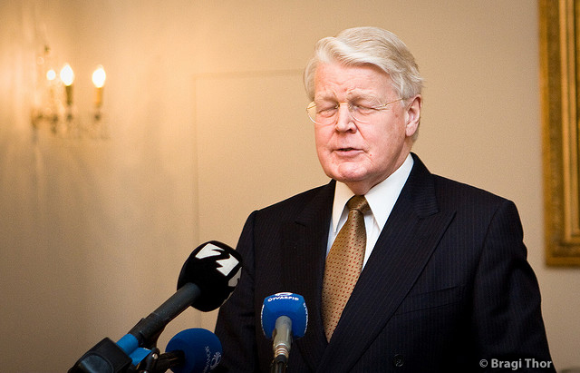 Ólafur Ragnar Grímsson presidente de Islandia