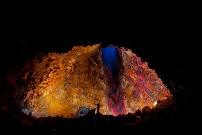 Interior del volcán islandés Thrihnukagigur