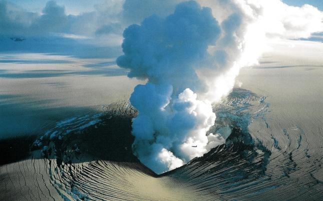 Erupción de volcán en Islandia